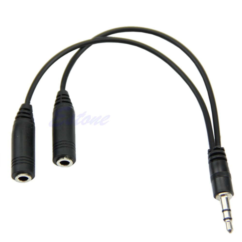 3.5mm Female to 2 Male Jack Plug Audio Stereo Headset Mic Splitter Cables  Nz