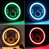 HJYUENG Pair For Harley Motorcycle Jeep LJ Tj FJ JK Wrangler 7 Inch Round LED Headlight
