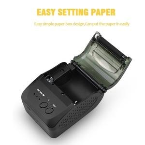 Image 4 - 58mm bluetooth mini pos impresora térmica de bolsillo impressora térmica portátil teléfono ticket android pos impresoras inalámbricas imprimir logo