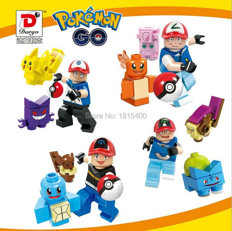 Decool Game Pokemon Figure DIY Toys Plastic Model Kits Building Blocks Minifigures Set Educational Learning Toys