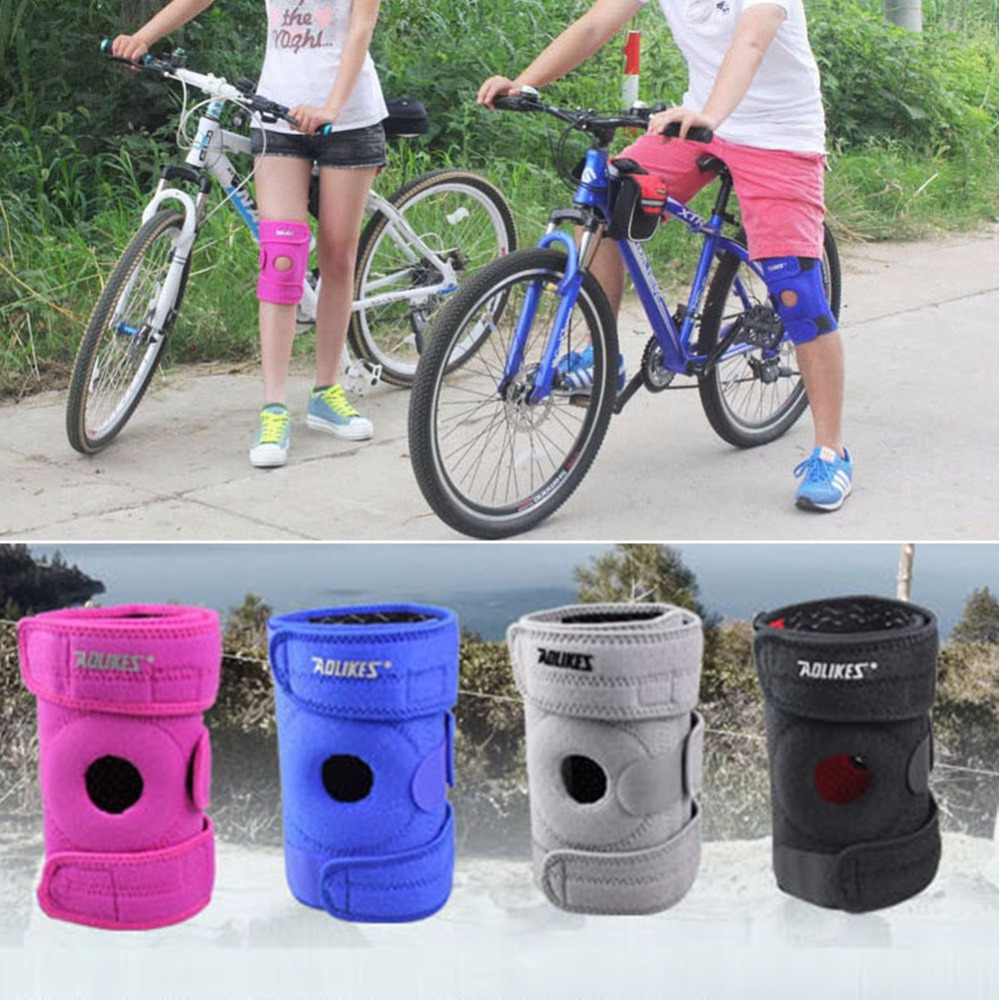 Patella Men Support Strap Brace Pad Knee Protector Sports Equipment Hole Kneepad Safety Guard