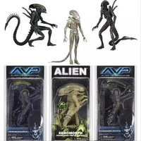 NECA Aliens vs Predator AVP Series Grid Alien Xenomorph Translucent Prototype Suit Warrior Alien Action Figure Model Toy 18cm