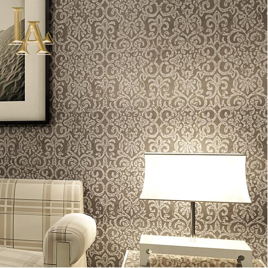 Vintage Luxury European Wallpaper For Walls 3 D Embossed Light Pink Beige Brown Damask Wall Paper For Bedroom Living Room Decor european luxury beige deep blue damask wallpaper for wall 3 d classic embossed tv room bedroom wall paper home decor deming n71