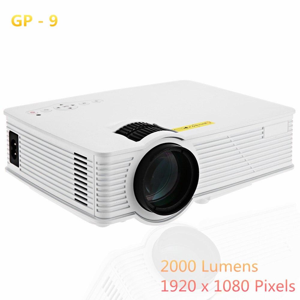 ФОТО GP9 2000 Lumens LED Projetor Full HD 1080P Portable USB Cinema Home Theater Pico LCD Video Mini Projector Beamer GP-9 Projectors