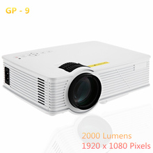GP9 2000 Lumens LED Projetor Full HD 1080 P Portátil USB Cinema Home Theater Pico LCD Vídeo Mini Projetor Beamer GP-9 projetores(China (Mainland))