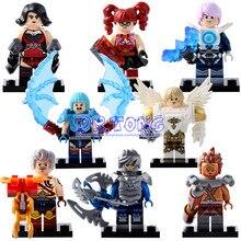 DR. TONG Nuevo Rey de la Gloria Ilumine el Romance de los Tres Reinos Figuras Uno de China Rey Caballero Heroes Building bloques de Juguetes