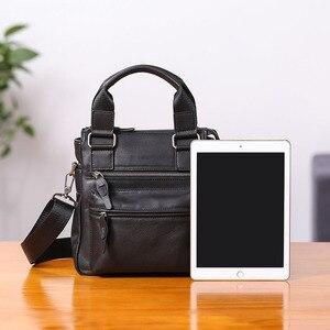 Image 3 - AETOO حقيبة يد صغيرة للرجال جلد عمودي الأعمال عادية الكتف قطري عبر الجسم حقيبة رجالية جلدية