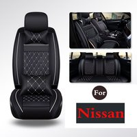 (1 Set) PU leather Car Seat Cover Seat Cover Protection auto Seat For Nissan Qashqai X Trail Paladin Bluebird D22