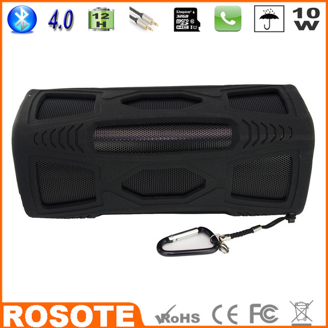2015 Waterproof 10W Super Bass Portable HI-FI shenzhen wireless vibration Bluetooth 4.0 speaker