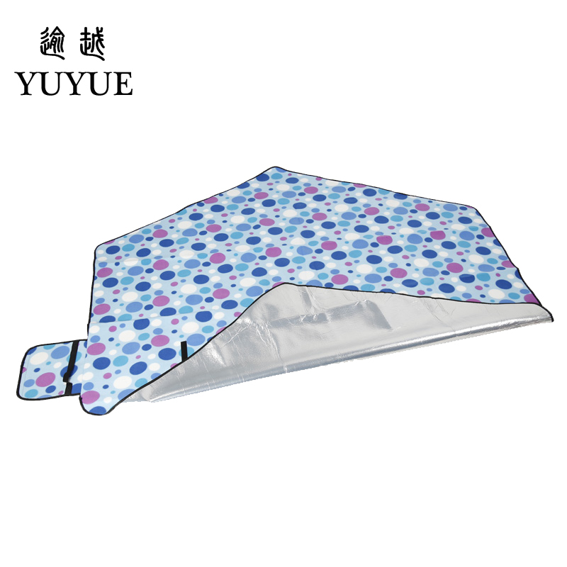 Big size picnic mat high quality suede aluminum file waterproof for tourist camping tent fishing picnic camping mat 3