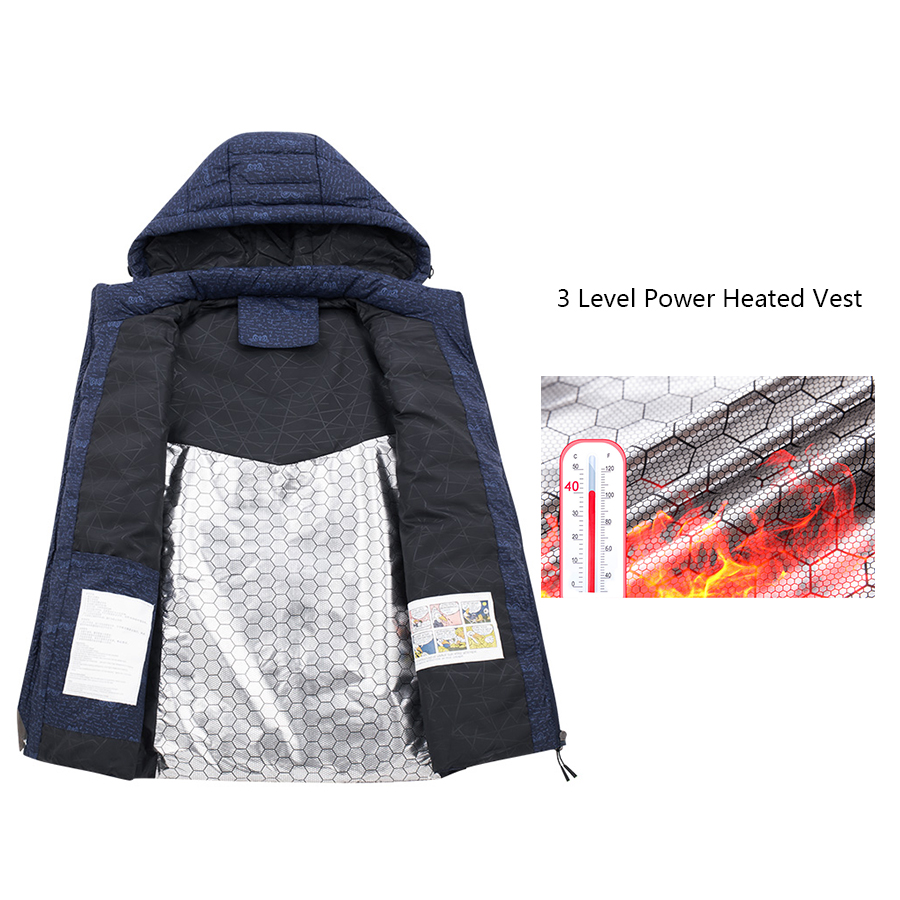 LXIAO Heated Vest Heating Thermal Winter Clothes Men Windproof Warm Waistcoat for Outdoor Camping Hiking Hunting 3 Level Power in Hiking Vests from Sports Entertainment
