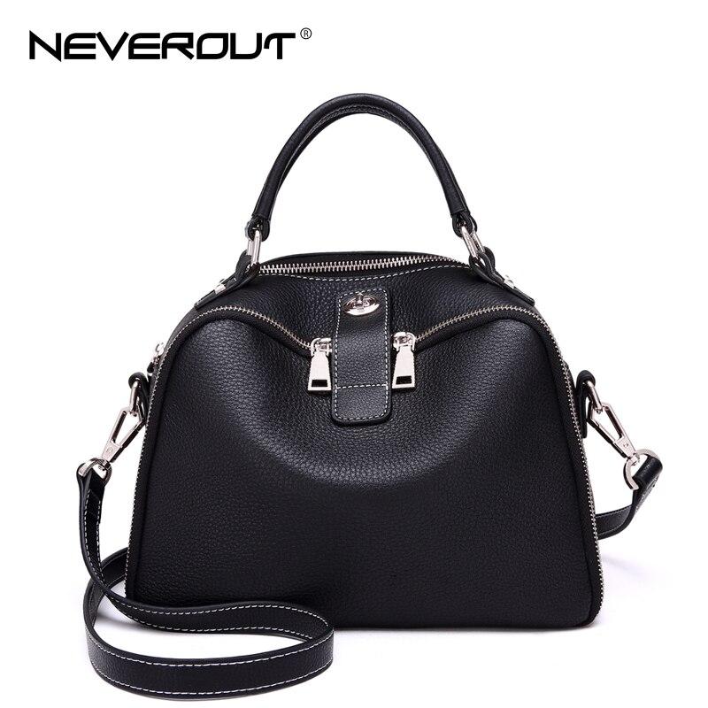 NeverOut Ladies Crossbody Bags Casual Handbag Brand Name Women Genuine Real Leather Handbags Casual Soft Fashion Shoulder Sac neverout brand name shoulder bag sac