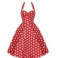 Verano estilo Vestidos retro vestidos mujeres vintage 50 s 60 s vestido BIG SWING Polka Dot backless rockabilly vestido gota libre