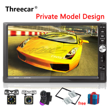 """7022 Car Stereo Bluetooth Radio 7""""2 DIN Touch Screen Handsfree Android Phone Mirror Link Support Front Rear View Camera Player"""