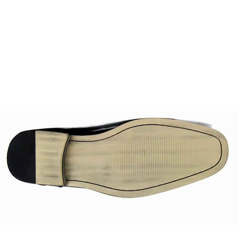 Marca Lujo marrón Cuero Derby Más De Cero Formal caqui Diseñador Hombre Oficina Negro Vestido Tamaños Gran Encaje Genuino Zapatos Casual Cq7wqUO