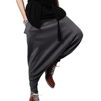 Free Shipping Male Harem Pants New Style Casual Loose Low Drop Crotch Mens Elastic Waist Pants