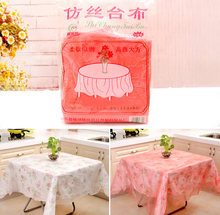 20pcs/LOT Wholesale Waterproof White/red Disposable Tablecloth,round Table Cloth ,Imitation Silk One-Time Covers