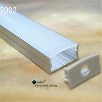 10 30 шт./лот, 2 м/катушка алюминиевый профиль для двухрядсветодио дный светодиодной ленты, молочный/Прозрачный чехол для мм 20 мм pcb, профиль для