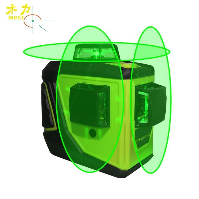 muli New Green Light 93 T 12 Line 3D 360 Horizontal E Vertical Do De Auto-Nivelamento A Laser Cruz Super Forte Linha Verde