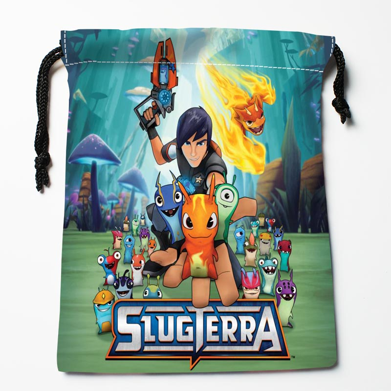 New Arrive  Slugterra Drawstring Bags Custom Storage Bags Storage Printed Gift Bags More Size 27x35cm DIY Your Picture