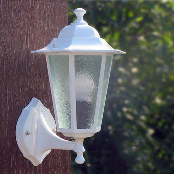 European style outdoor waterproof courtyard white wall lamp pastoral balcony aisle corridor staircase wall lamp outdoor lighting