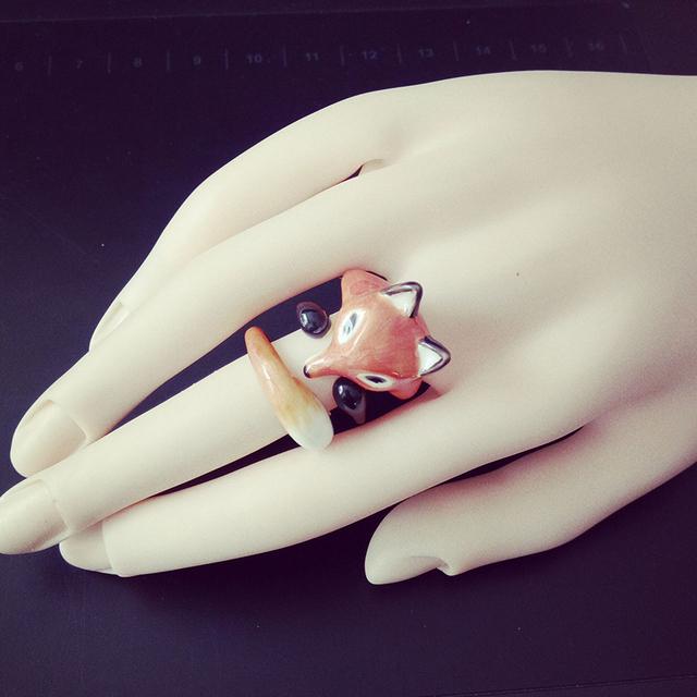 3pcs Trendy Fox Ring Gold Plated Fashion Animal Jewelry