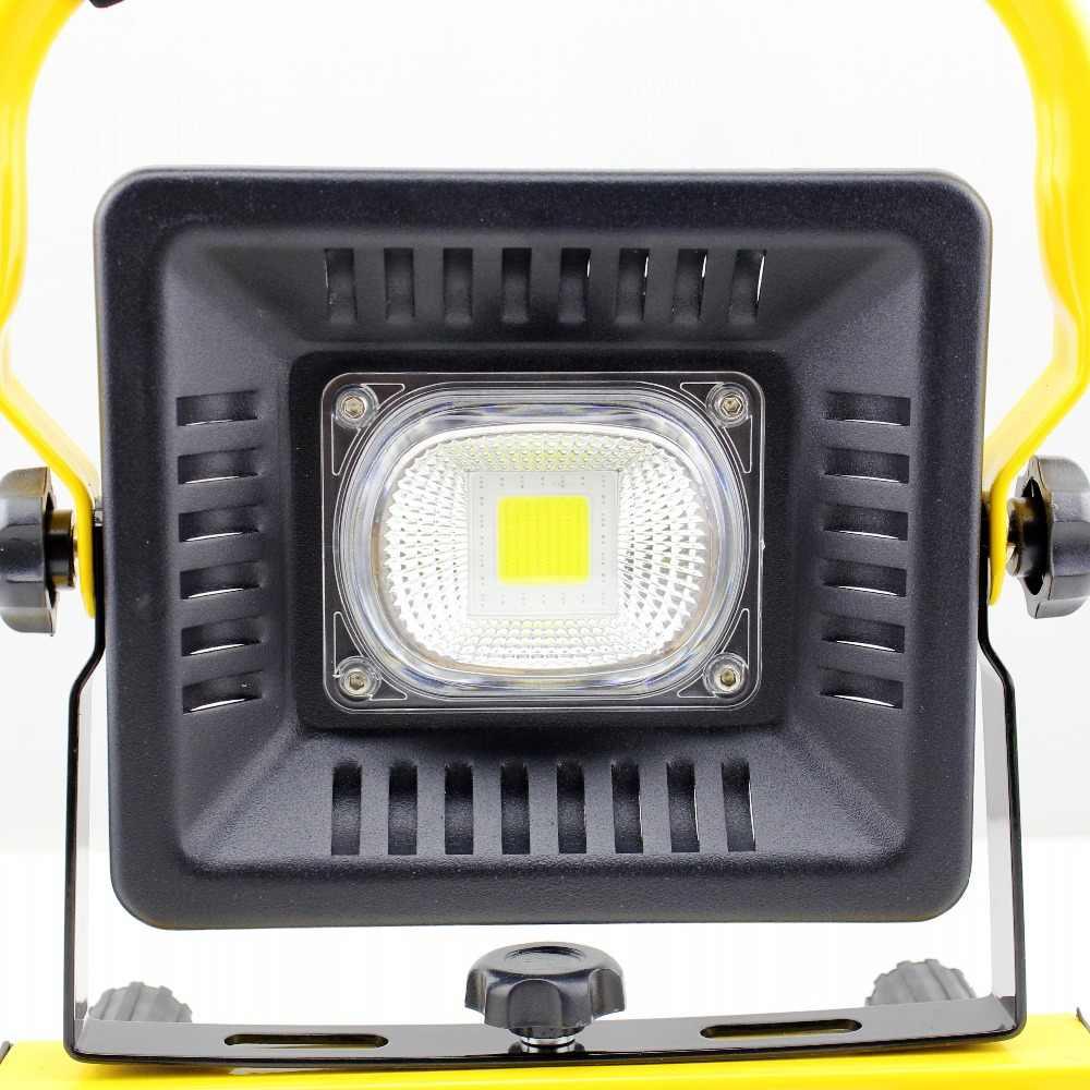 Lampe Led Riflettore Portatile Ha Condotto La Luce del Lavoro Ricaricabile 18650 Batteria Luce Esterna Per La Caccia di Campeggio Led In Strada Torcia Elettrica