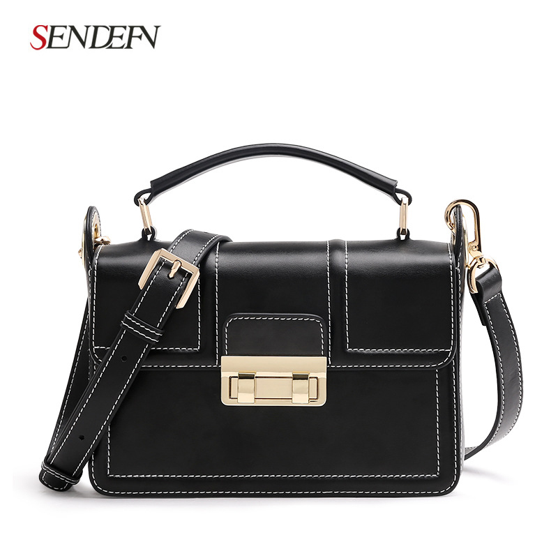 2018 spring and summer new leather handbags Korean fashion small square bag shoulder diagonal ladies bag korean version of the new fringed leather handbags fashion bag korean ladies leather shoulder bag oblique diagonal package