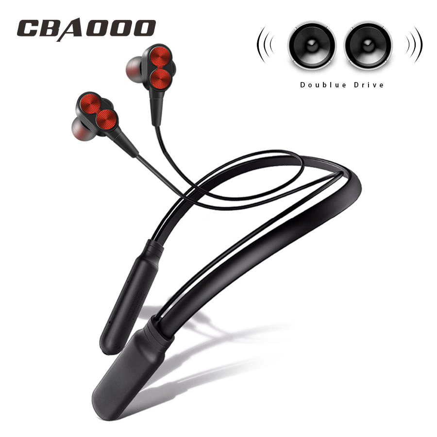 CBAOOO DT800 Bluetooth אלחוטי אוזניות Neckband ספורט אוזניות אוזניות סטריאו בס אוזניות דיבורית עם מיקרופון עבור כל טלפונים