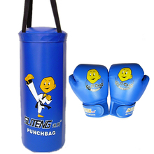 цена на SUTEN Boxing Sandbag Gloves Set Cartoon Children Training Fitness MMA Punching Bag Empty Kick Muay Thai Boxer Protective Gear