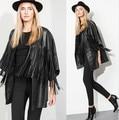 Melinda estilo 2014 nuevas mujeres de la borla de la chaqueta de la PU outwear mujeres tops envío gratis