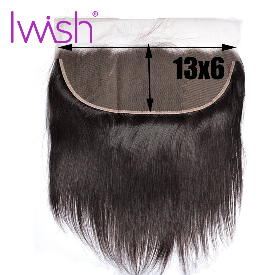 13 6 Frontals Iwish 13x6 Lace Frontal Human Hair Straight Frontal Peruvian Closure Ear To Ear