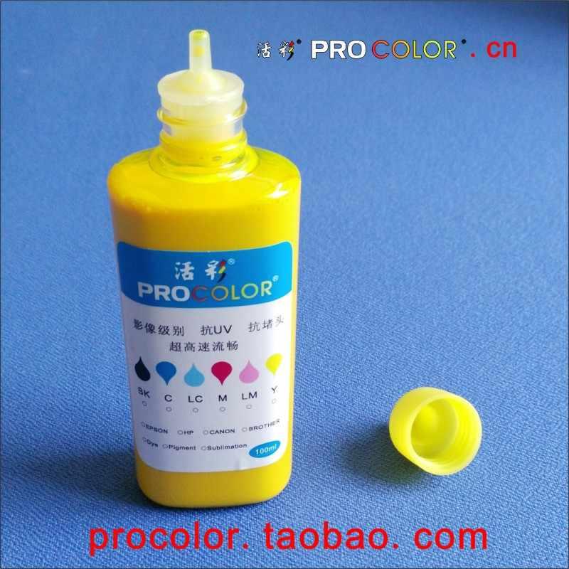 Botol tinta procolor refill kit tahan air 664 pigmen tinta untuk epson CISS L355 L455 L555 L550 L565 L132 L222 L312 Inkjet pritner