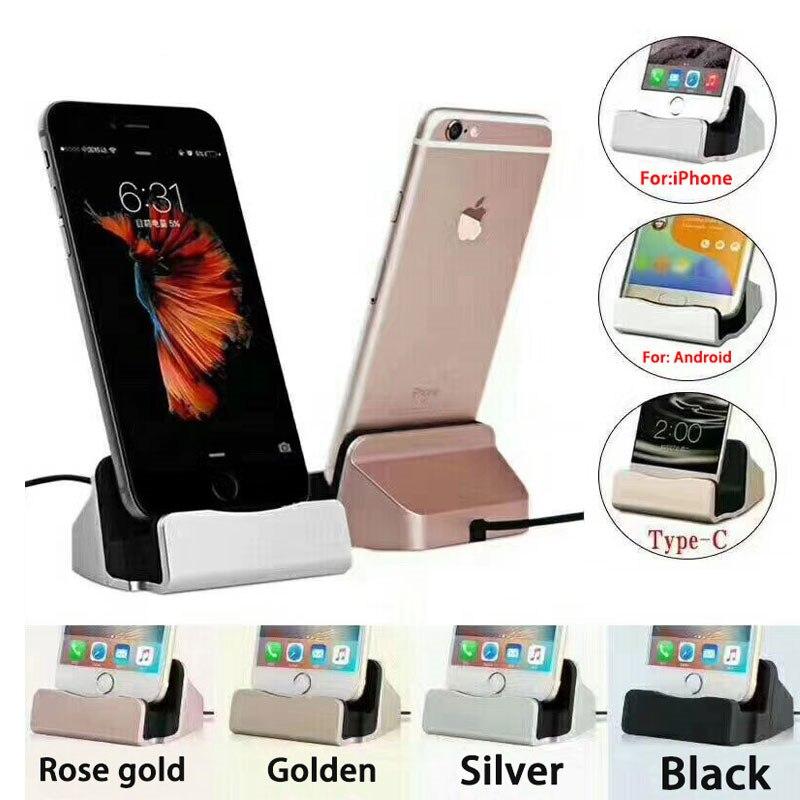 USB כבל נתונים טלפון מטען Dock Stand תחנת טעינה עבור iPhone 6 7 8 X סמסונג S xiaomi huawei אנדרואיד מיקרו סוג C iOS