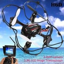 RC Helicóptero JJRC H6D Dron de 2.0MP HD 5.8G Modo CF FPV RC Quadcopter RTF-Negro