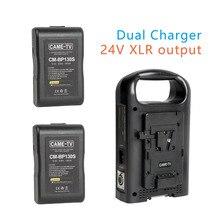 CAME-TV V-Mount Батарея Зарядное устройство 24 V XLR Выход с двумя 130 Вт компактный батареи