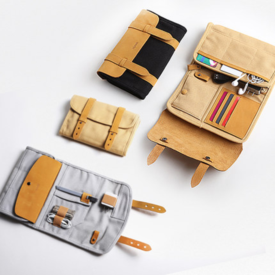 Hanging Bag Travel Storage Office Package Digital Battery Pouch Power Bank Travel Organization Accessories Zip Lock Bag 50B0077