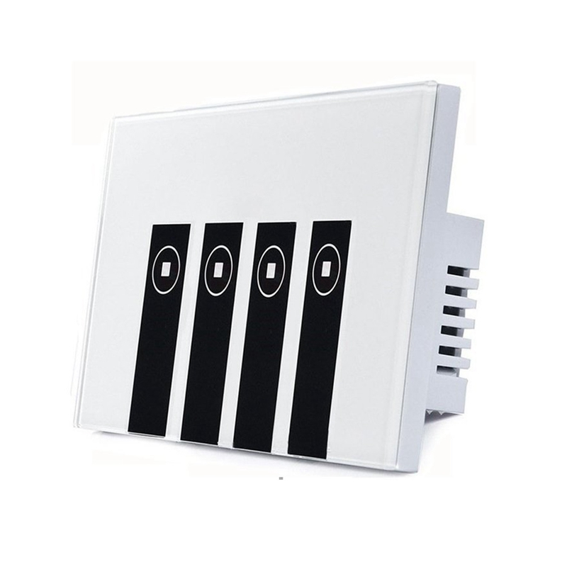 Smart Light Switch 4 Switches Touch In wall Wireless Plate Switch Compatible with Amazon Alexa Remote