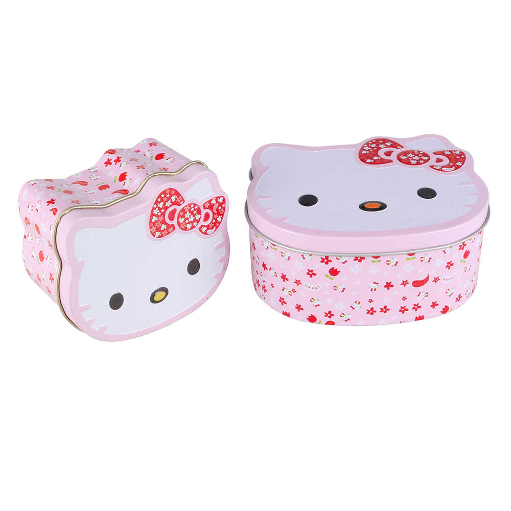 21969f278 ... Cartoon Hello Kitty Mini Gift Package Tin Box Candy Baking Cookies  Biscuit Case Decorations for Home ...