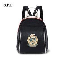 Горячая продажа 2017 девушки сумки корея моды женщины кожа рюкзак сумка аппликации высокое качество сумка бесплатная доставка