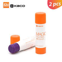 2Pcs Xiaomi Kaco Solid Glue Stick Color-changing Glue Student Strong Adhesives Paper Sticker Stationery School Office Supplies(China)