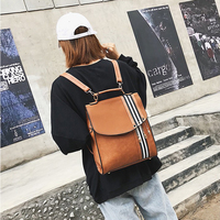 Korean fashion Style Leather female Travel Backpack women Back pack Leisure Sweet School backpacks for teenage girls New 2018