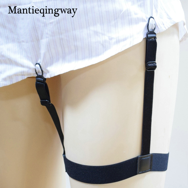 Nylon Shirts Holders Suspensorio For Mens Shirts Suspenders Suits Elastic Anti-skid Garter Belt Braces