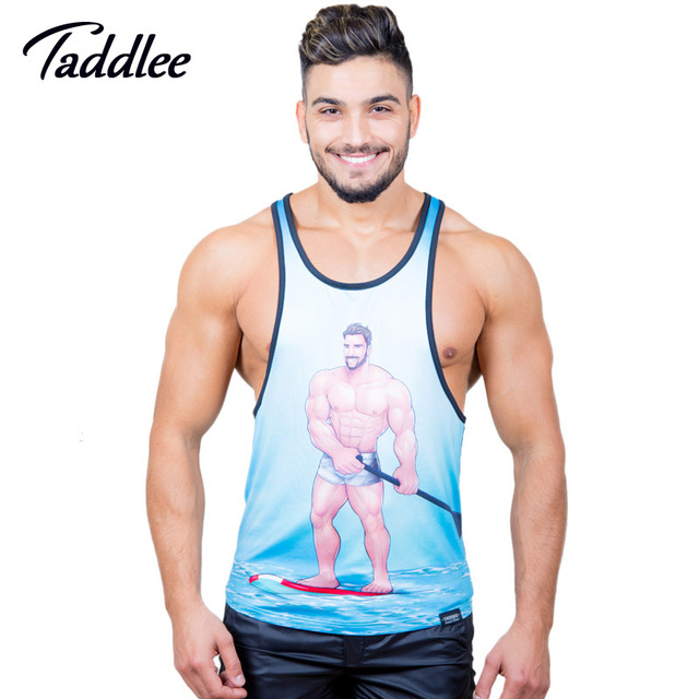 Taddlee marca tanque dos homens top camisas sem mangas aptidão longarina singlets homens undershirts camisas casual t top tanques muscular