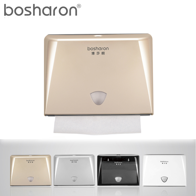 Z Folding Paper Towels Dispenser Tissue Box Holder Wall Mounted ABS Plastic Kitchen Accessories White Gold Silver Black