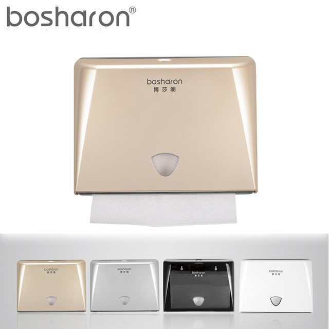 Z Folding Paper Towels Dispenser Tissue Box Holder Wall Mounted Abs Plastic Kitchen Accessories White Gold