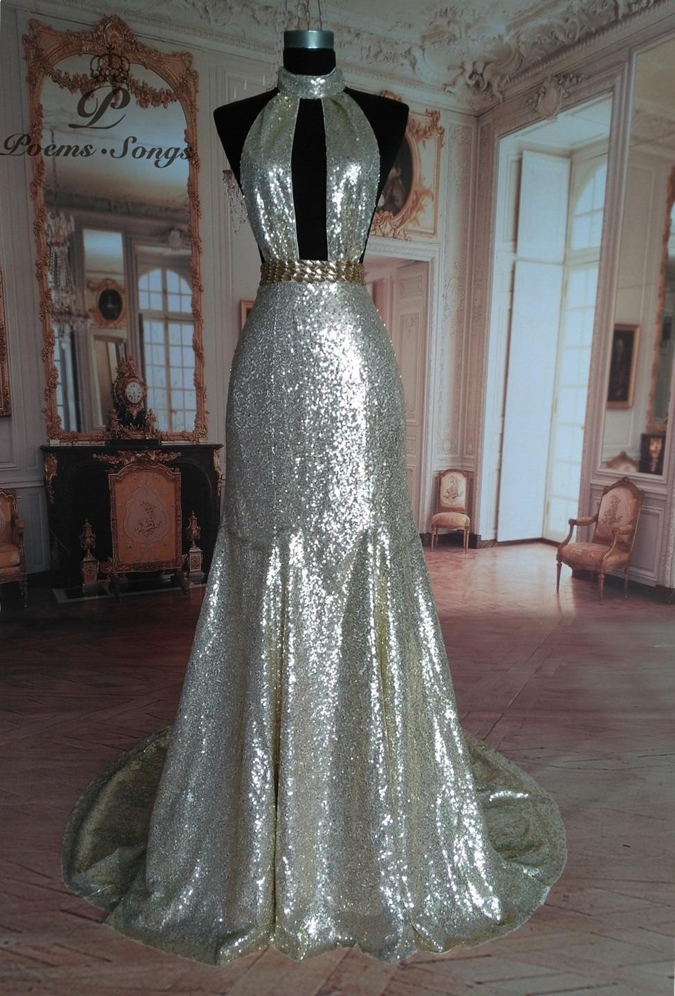 Poemssongs 2017 custom made sequin sexy mermaid   evening     dress   2017 party   dresses   prom   dresses   formal   dress   vestido de festa