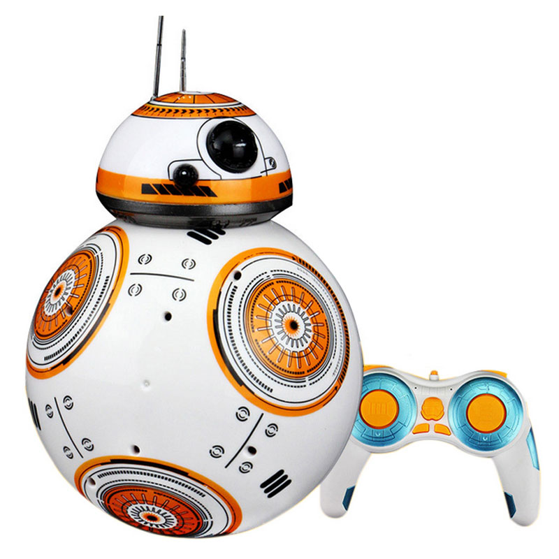 RC Robots Ball toys BB-8 remote control Star War toy BB8 smart wars car Action Figure Intelligent Ball Toys For bos kids gift