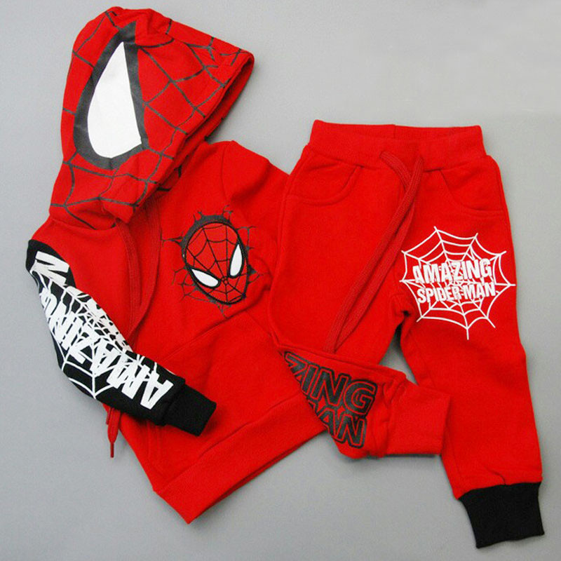 Children Clothing Autumn Winter Toddler Boys Clothes Sets Spiderman Costume Kids Clothes For Boys Clothing Suit 3 4 5 6 7 Year 28