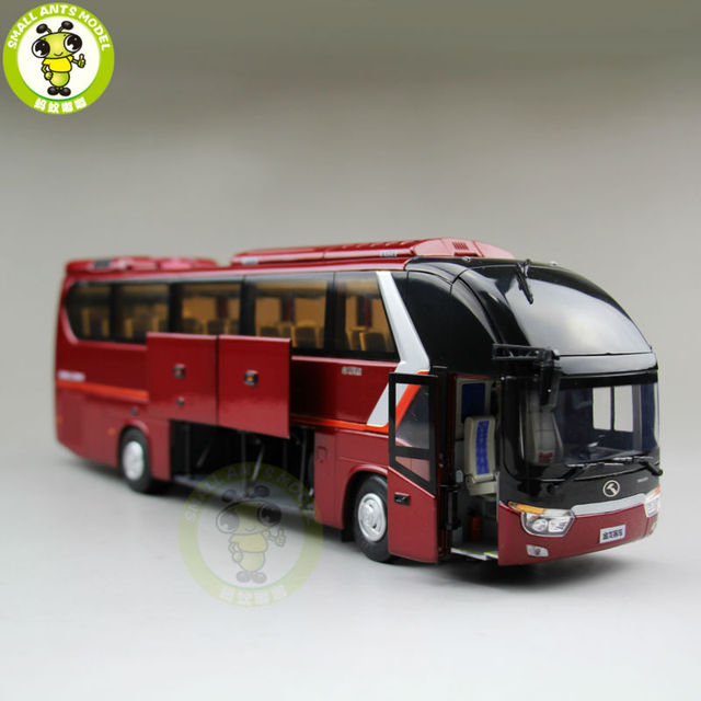 1 38 china gold dragon bus models xmq6129y5 diecast bus model red in